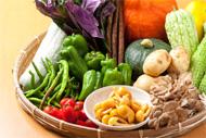 瀬女で栽培した野菜をつかった食事です